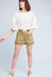 Anthropologie High Rise Chino Shorts Moss