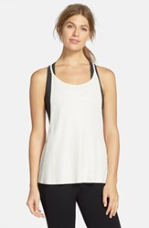 Women's Solow Coated Rib Knit Tank White