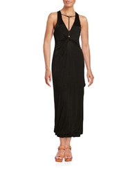 Free People Sin City Twist Front Maxi Dress Black