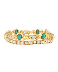 Alexis Bittar Muse D'ore Golden Stacked Rocky Hinge Bracelet Women's