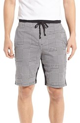 Naked Men's Houndstooth Stretch Cotton Lounge Shorts