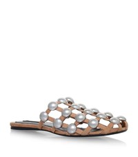 Alexander Wang Amelia Studded Sliders Female White