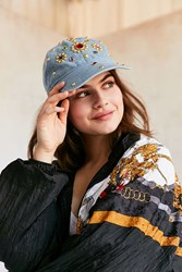 Urban Outfitters Denim Gemstone Baseball Hat Blue