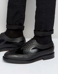 Selected Homme Benny Mix Brogue Shoes Black