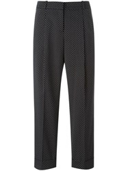 Michael Kors Cropped Tailored Trousers Black