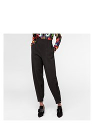 Paul Smith Women's Black Cady Trousers With Button Cuffs