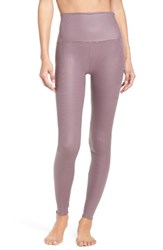 Onzie Women's High Waist Print Leggings Purple Haze Fishnet
