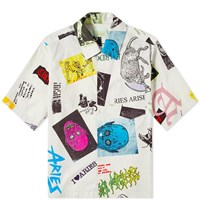 Aries Thrasher Hawaiian Shirt White