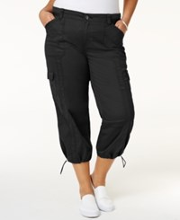 Styleandco. Style Co. Plus Size Capri Cargo Pants Only At Macy's Deep Black