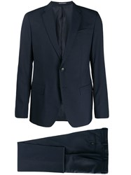 Emporio Armani Two Piece Tailored Suit Blue
