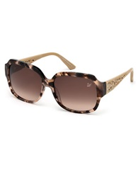 Swarovski Desiree Square Sunglasses Pink Havana