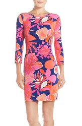 Women's Trina Turk 'Tina' Reversible Floral Jersey Body Con Dress