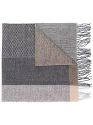 Hackett Mixed Pattern Scarf Neutrals