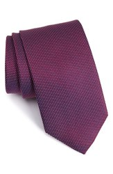 Eton Men's Microdot Silk Tie Burgundy