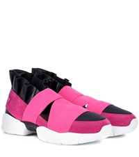 Emilio Pucci Suede Sneakers Pink