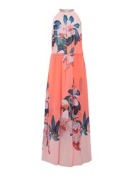 Ted Baker Orchid Wonderland Beach Maxi Cover Up Pink