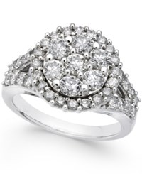 Macy's Diamond Round Cluster Ring 2 Ct. T.W. In 14K White Gold