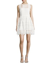 Bb Dakota Crochet Fit And Flare Dress Ivory