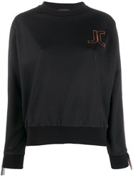Just Cavalli Embroidered Logo Sweatshirt Black