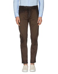 Haikure Trousers Casual Trousers Men Dark Brown