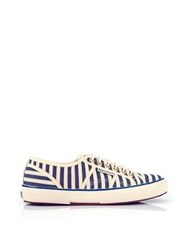 Maison Scotch Superga X Scotch And Soda Classic Striped Shoe Blue White
