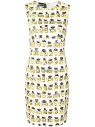 Boutique Moschino Fitted Mini Dress White