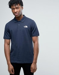 The North Face Pique Polo In Navy Urbnnavy Tnfwht