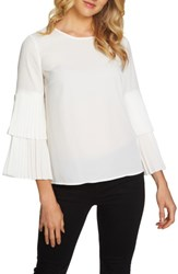 1.State Women's Pleated Sleeve Blouse New Ivory