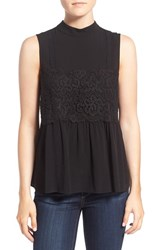 Willow And Clay Women's Mock Neck Lace Tank