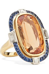 Fred Leighton Collection 18 Karat Gold And Platinum Multi Stone Ring