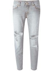 People People Distressed Jeans Grey