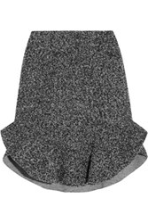 Isabel Marant Drye Wool Blend Boucle Mini Skirt Gray