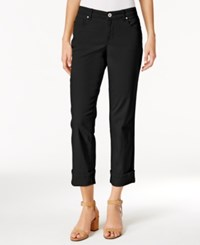 Style And Co Co. Petite Curvy Fit Capri Jeans Only At Macy's Deep Black