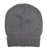 Dolce And Gabbana Knitted Wool Hat Unisex Grey