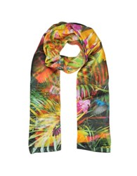 Laura Biagiotti Floral And Nature Print Silk Stole Fuchsia