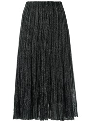 Gig Midi Knitted Skirt Women Viscose Polyester Pp Black