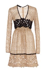Burberry Cotton Lace Dress With Macrame Detailing Nude
