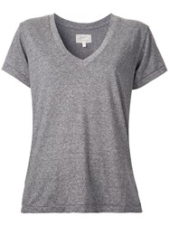 Current Elliott V Neck T Shirt Grey