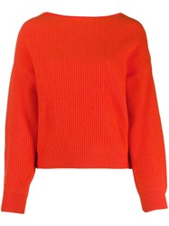 Bellerose Ribbed Knit Sweater Orange