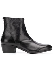 Pantanetti Rear Zip Boots Black