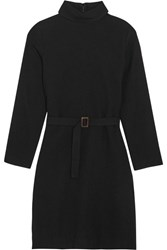 A.P.C. Atelier De Production Et De Creation Belted Wool Felt Dress Black