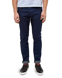 Ted Baker Straight Fit Printed Weft Jeans In Rinse Rinse Denim