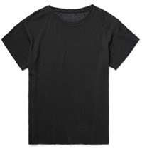 The Elder Statesman Slim Fit Cashmere T Shirt Black