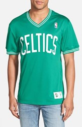 Men's Mitchell And Ness 'Boston Celtics' Tailored Fit Mesh T Shirt