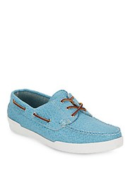 Eastland Textured Leather Boat Shoes Aquamarine