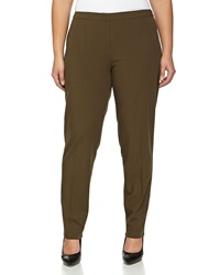 Lafayette 148 New York Stretch Twill Side Zip Pants Loden