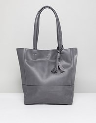Qupid Shopper Bag Navy Grey