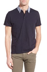 Men's Peter Werth 'Drift' Trim Fit Contrast Collar Polo