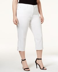 Nydj Plus Size Ariel Embellished Cropped Jeans White