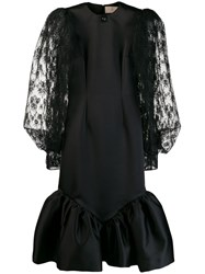 Christopher Kane Cupcake Lace Sleeve Dress Black